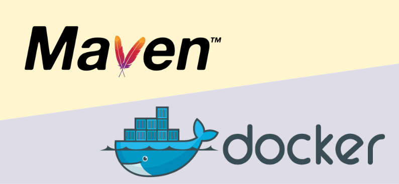 Combination of Maven and Docker logos